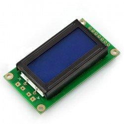 LCD displej 2x8 znaků modrý