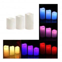 Sada LED svíček - svíčky 3 ks. + Pilot