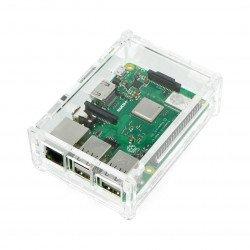 Pouzdro Raspberry Pi Model B + průhledné s krytem