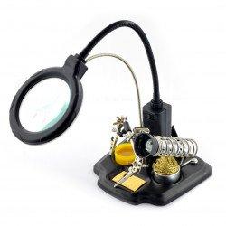 Rukojeť s lupou s LED osvětlením - ZD-10Y třetí ruka