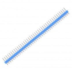 Zlatý kolík 1x40, přímý, rozteč 2,54 mm - modrý