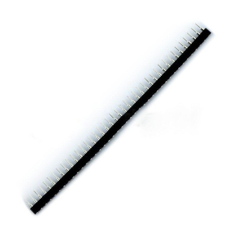 Jednořadá přesná lišta 1x40, rozteč 2,54 mm - samice SIP40