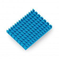 Chladič 40x30x5mm pro Raspberry Pi 4 s tepelně vodivou páskou - modrý