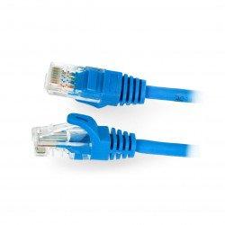 Síťový kabel Ethernet Patchcord UTP 5e 0,5 m - modrý