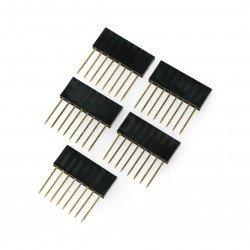 Prodloužená zásuvka 1x8, rastr 2,54 mm pro Arduino - 5 ks.