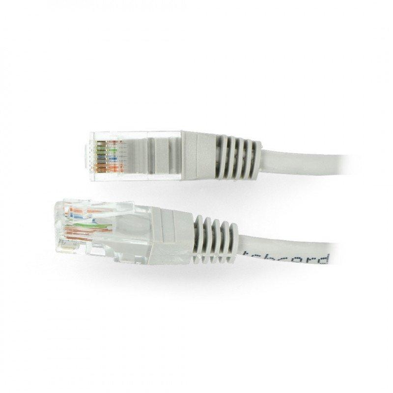 Patchcord Ethernet UTP 5e 20m - šedý