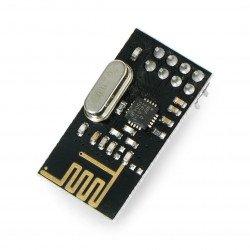 Rádiový modul nRF24L01 + 2,4 GHz - transceiver THT - černý