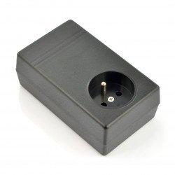 Plastové pouzdro Kradex Z31 - 120x71x45mm černé s objímkou