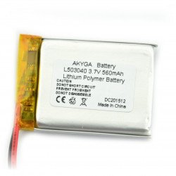 Akyga 560mAh 1S 3,7V Li-Pol baterie
