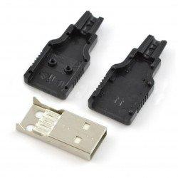 USB zástrčka typu A - pro plastový kabel
