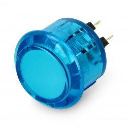 Arkádové tlačítko Adafruit 3,3 cm průhledné - modré