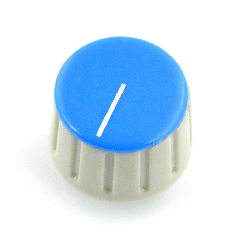 Knoflík potenciometru GS18 šedo-modrý - 18 mm
