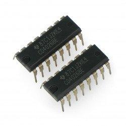 Logic CD4026 - digitální čítač, 7segmentový dekodér THT