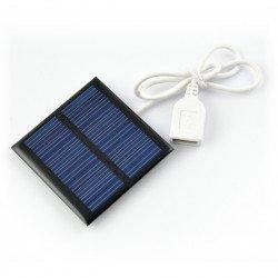 Solární článek 0,6 W / 5,5 V 65x65x3mm USB