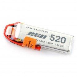 LiPol Dualsky 520mAh 20C 2S 7,4V balení