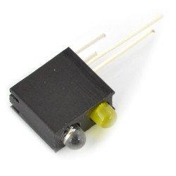 Zelená a žlutá LED v držáku