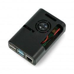 Pouzdro pro Raspberry Pi 4 s ventilátorem - černé