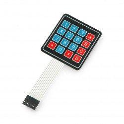 Samolepící numerická membránová klávesnice - 16 kláves