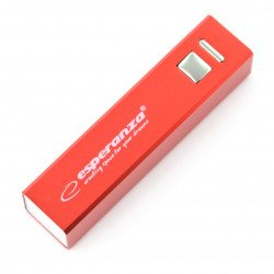 Mobilní baterie PowerBank Esperanza Erg EMP102R 2400mAh - červená