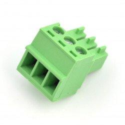 Zásuvka, 3kolíková montážní lišta, rastr 3,5 mm