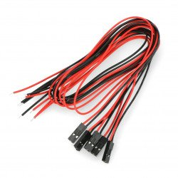 Sada kabelů s 2pinovou zásuvkou, rozteč 2,54 mm - 40 cm - 5ks.