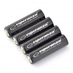 Dobíjecí baterie Esperanza R6 AA Ni-MH 2600mAh - 4 ks