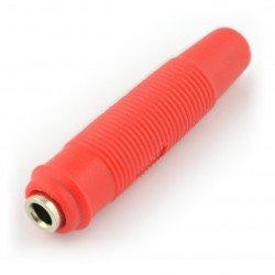 AL2319 banánková zásuvka pro kabel - červená - 4 mm