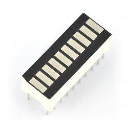 LED displej pravítka OSX10201-GYR1 - 10 segmentů