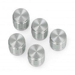 Knoflík potenciometru GCL15 stříbrný - 15 mm