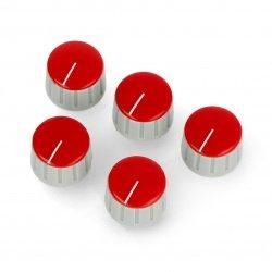 GS18 šedočervený knoflík potenciometru - 18 mm