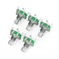 Kodér s tlačítkem 20 pulzů 12 mm - EC11 svisle