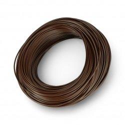 Instalační kabel LgY 1x0,5 H05V-K - hnědý - role 100 m