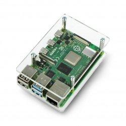 Pouzdro Raspberry Pi Model 3/2 / B + - průhledné, otevřené
