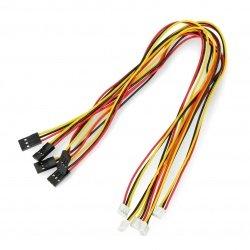 Kabel, adaptér 3x1 JST, rastr 2mm - BLS, rastr 2,54mm - 5ks.