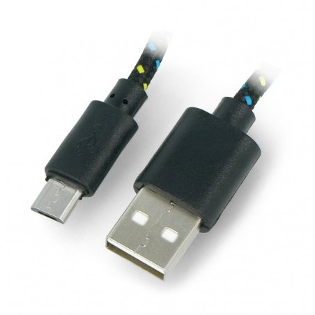 MicroUSB kabel B - A - opletený 3m