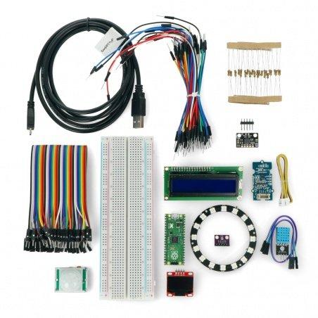 Připraveno k práci s Raspberry Pi Pico - sada 13 modulů, ukázkové programy + deska