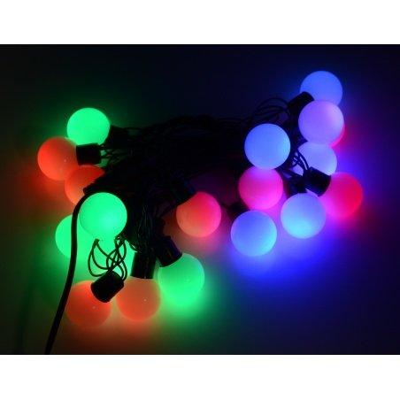 Lampki choinkowe LED kule - RGB - 19szt.