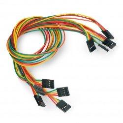 Kabel female-female 4 pin - 40cm - 5ks
