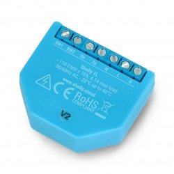 Shelly 1L - relé 230VAC bez linky N WiFi 4A - aplikace pro
