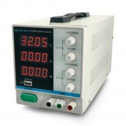 Přesný laboratorní zdroj LongWei PS3010DF 0-30V 10A