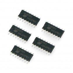Integrovaný obvod ULN2003 7xDarlington - SMD - 5ks.
