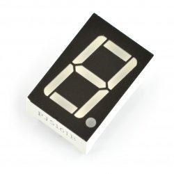 Wyświetlacz 8-segmentowy x1 - 14mm zielony - 8 mcd - wsp. katoda