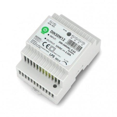 Zasilacz DIN30W12 na szynę DIN - 12V / 2,5A / 30W