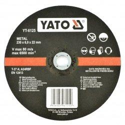 Kovový brusný kotouč Yato YT-6125 - konvexní - 230x6mm