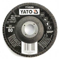 Tarcza ściernica listkowa Yato YT-83294 - wypukła - 125x8mm