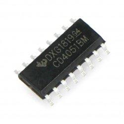 Analogový multiplexer / demultiplexor MC4051BG - SMD