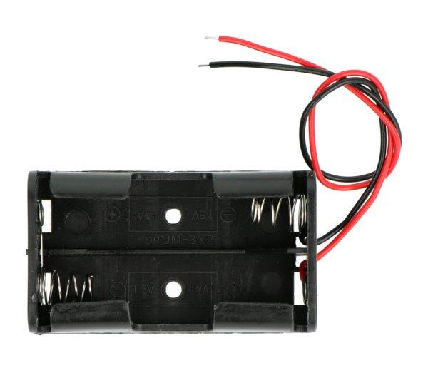 Koš na 2 baterie AA