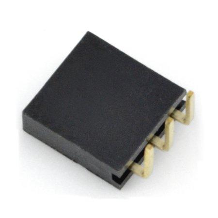 Úhlová zásuvka 1x3 pin.