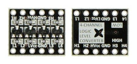 Konwerter poziomów logicznych dwukierunkowy, 4-kanałowy - MSX