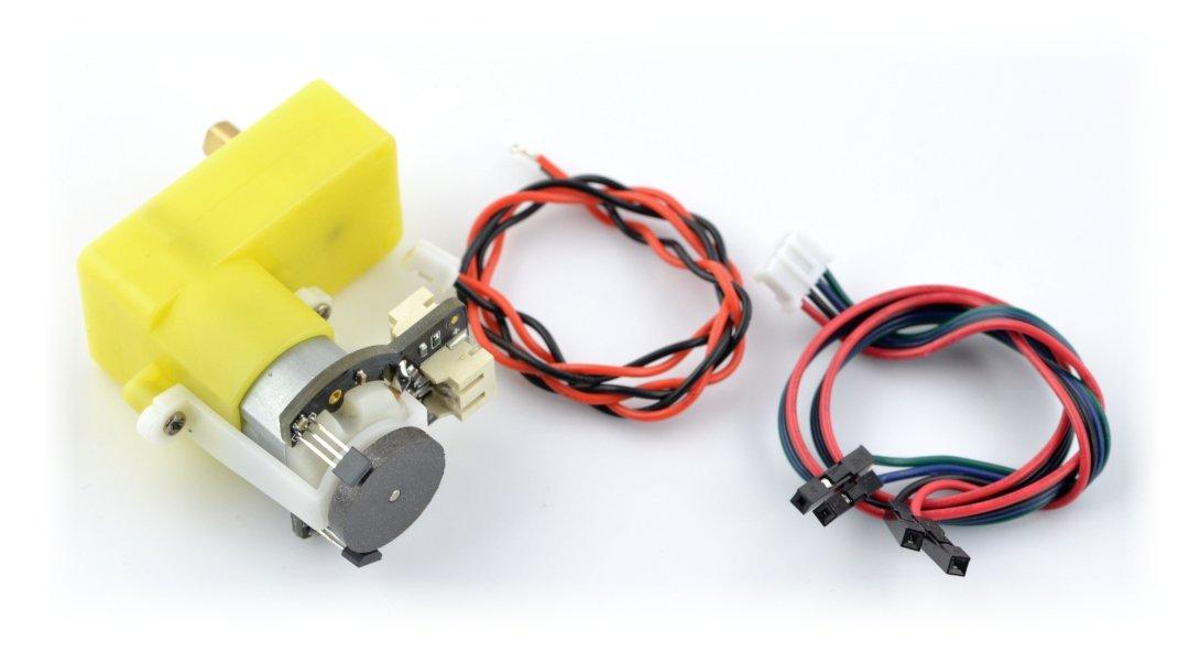 Úhlový motor s převodovkou SJ02 120: 1 6V 160RPM + enkodér